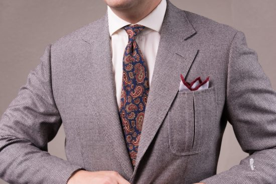 Madder Silk Tie in Purple with Paisley Fort Belvedere