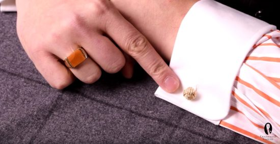 Monkey Fist Knot Cufflinks in Gold by Fort Belvedere