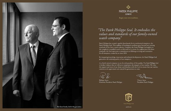 Philippe and Thierry Stern, Patek presidents