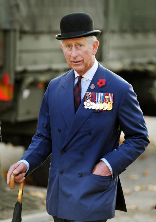 Prince Charles is dignified in his bowler hat - Remembrance Sunday service London 2011