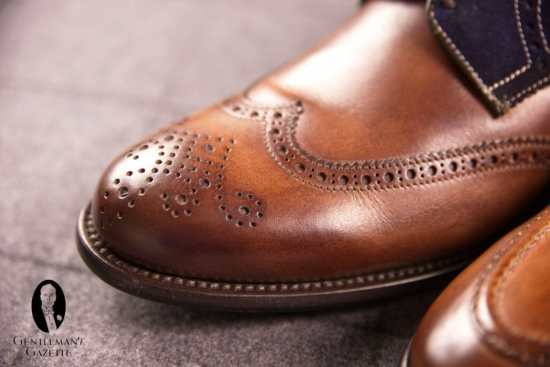 Ace Marks - Blake Stitched Shoe with Hand Burnished Patina