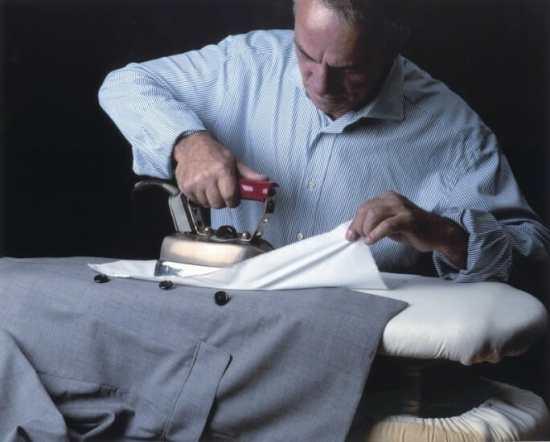 Using press cloth