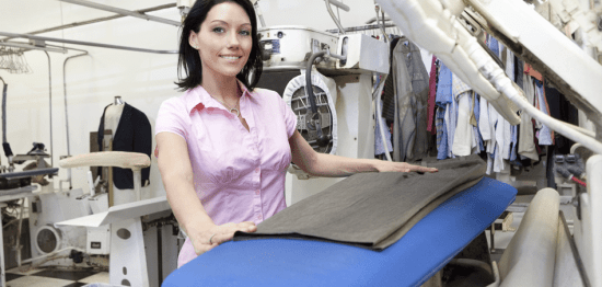 dry cleaner ironing
