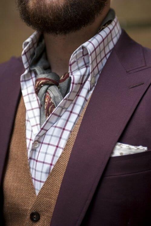 Scarf worn as Cravat