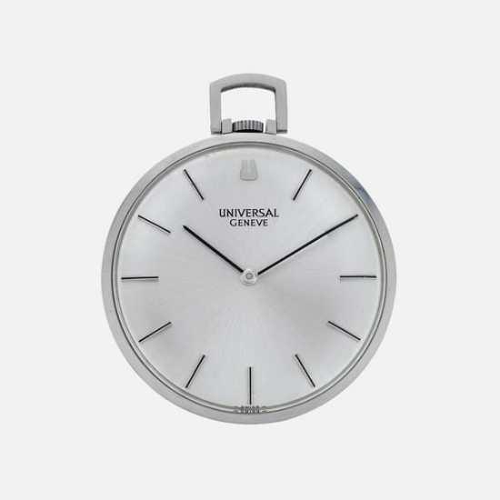 A pocket watch from Universal Genève in steel