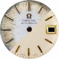 A dial restoration should respect the original design