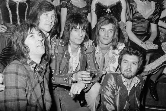 Rod Stewart and company at the Tramp