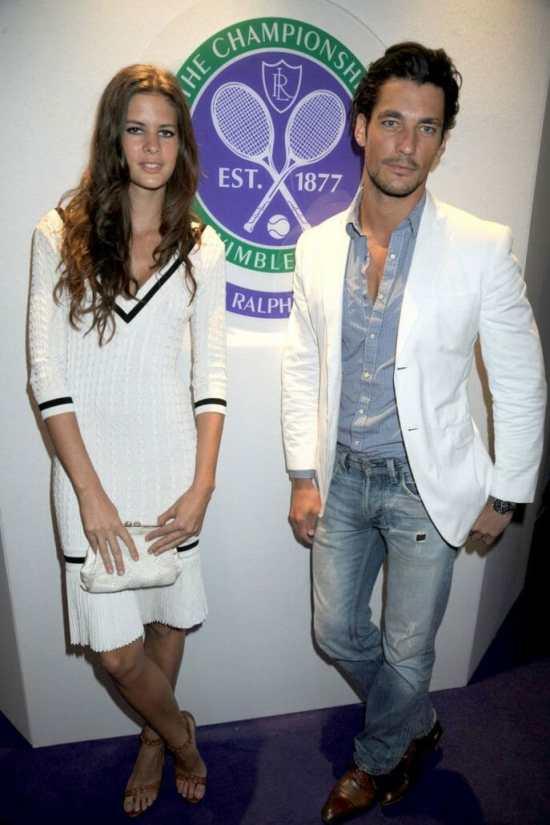 Wimbledon 2009 with girlfriend Chloe Pridham