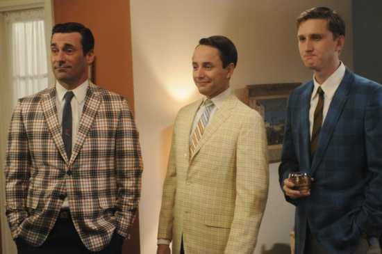 Don Draper (Jon Hamm), Pete Campbell (Vincent Kartheiser) and Ken Cosgrove (Aaron Staton) - Mad Men