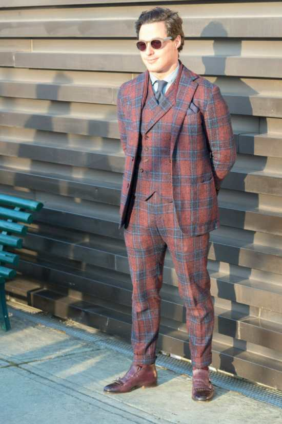 Plaid suits can be difficult to pull off.