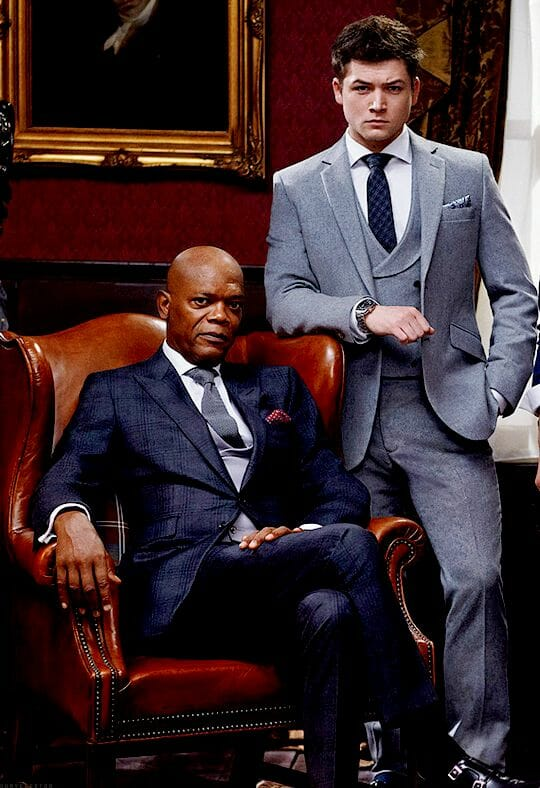 The tailoring in the Kingsman films displays strong structure.