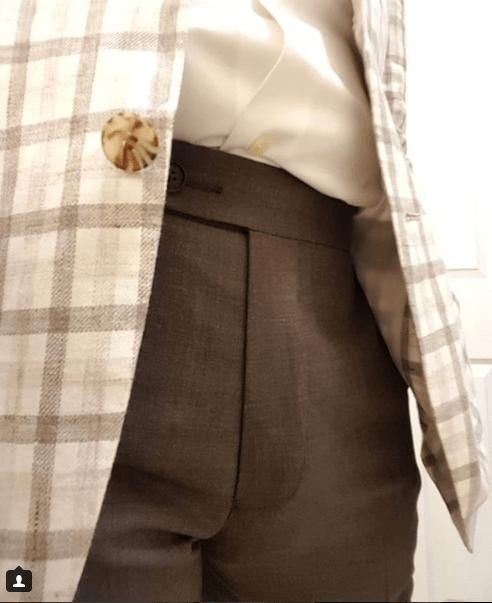 Brown fresco trousers