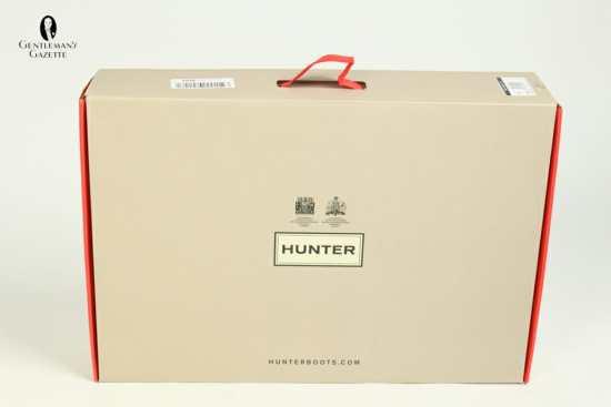Hunter Wellies packaging
