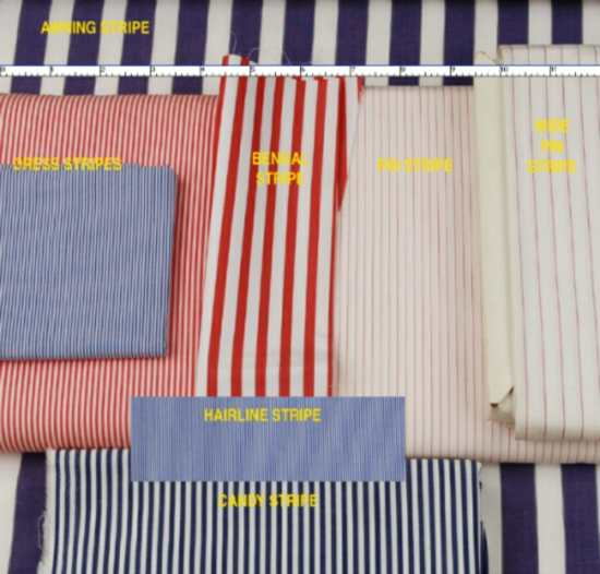 Common Types of Stripes in Menswear