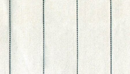An example of hairline stripes in green.