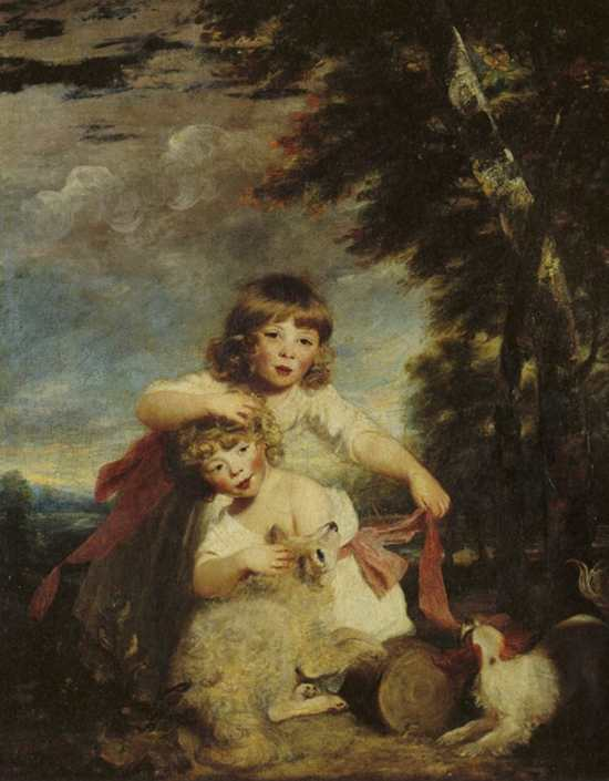 Joshua Reynolds' portrait of the Brummell brothers
