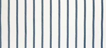 "An example of what might be called a ""rope stripe,"" in teal."