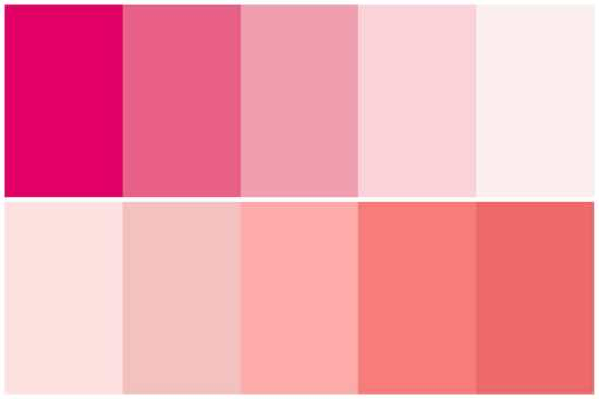 Ten Shades of Pink