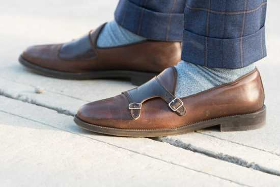 Cuffed Pants with Loafers at Pitti Uomo 91