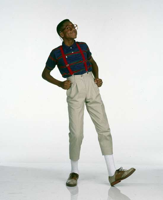 Steve Urkel in high-rise pants