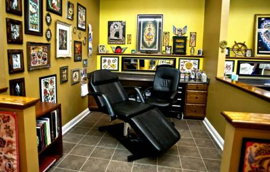 A tattoo studio