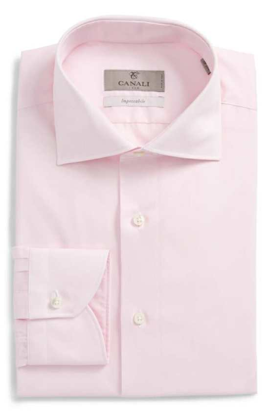 Canali pale pink dress shirt
