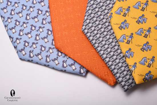 Different Hermes ties