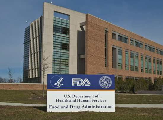 Headquarters of the U.S. Food and Drug Administration, or FDA.