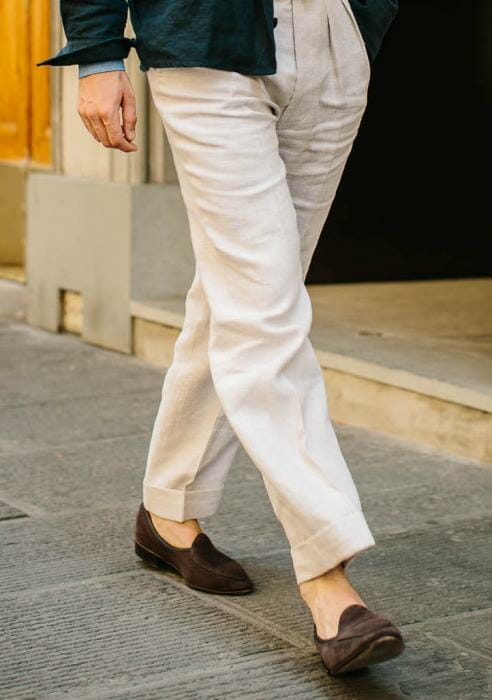 Simon Crompton in Baudoin and Lange Belgian Loafers