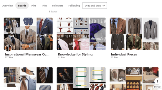 Classic style boards on Pinterest