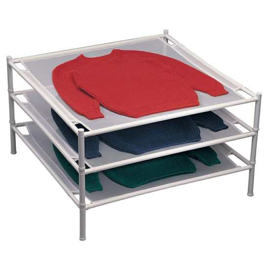 Dry your garments on a rack to maintain its natural shape & structure