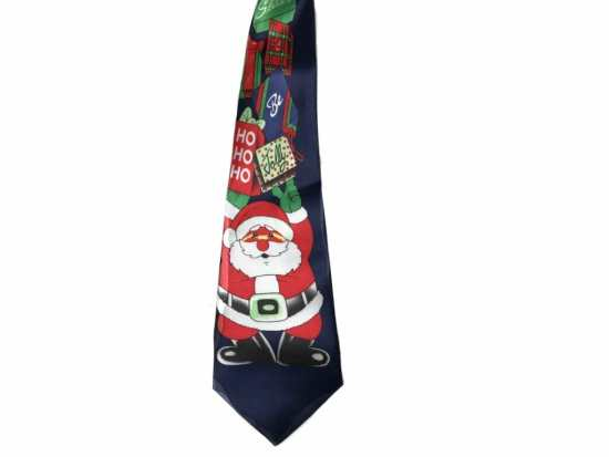 Refrain from wearing this loud Christmas tie at a white-collar office party