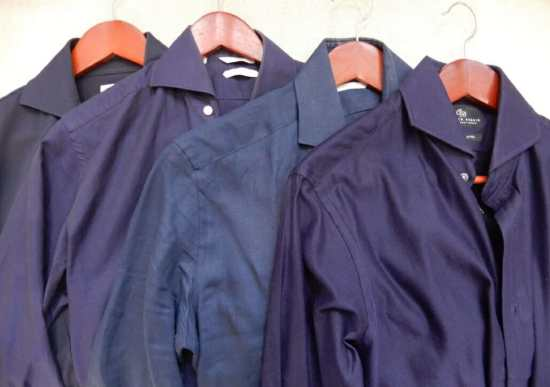 Jersey, linen, cotton and giro inglese navy shirts