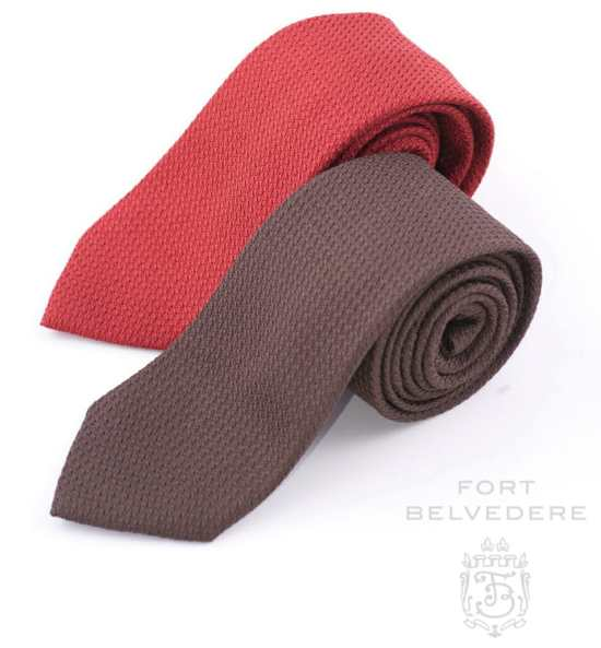 The Fort Belvedere Shop offers grenadine ties in multiple colors and lengths.