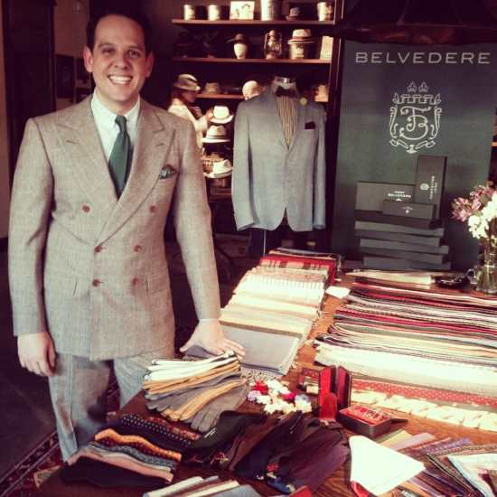 Sven Raphael Schneider with Fort Belvedere Products