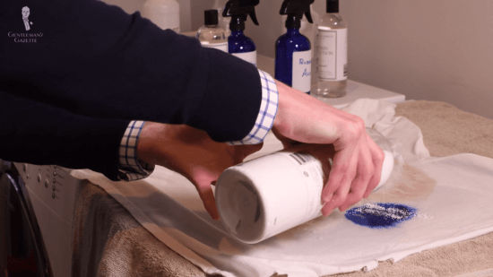 The process of removing stains