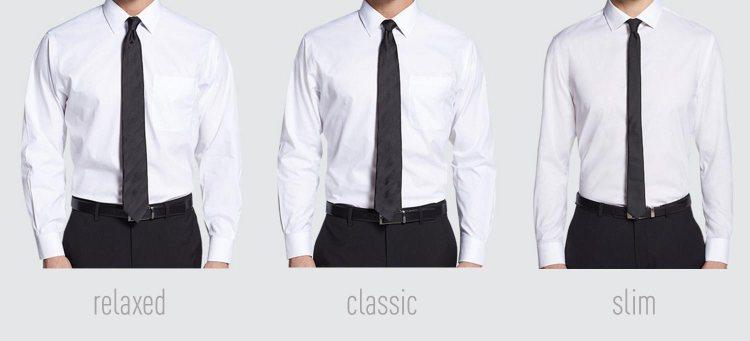 Dress shirt fit comparison