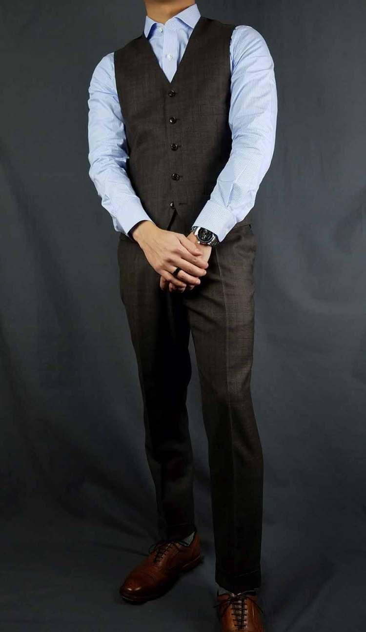 black lapel vest fit