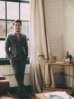 Turtleneck Under Suit Jacket Standing