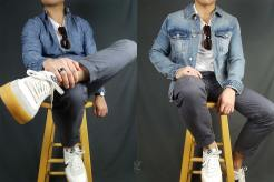 Crewneck t-shirt and denim outfits | GENTLEMAN WITHIN