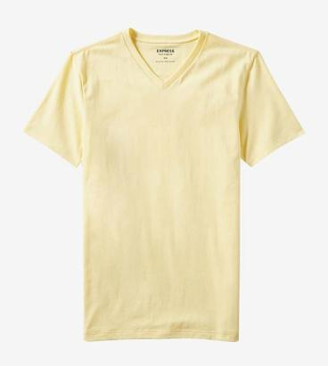 Express Yellow V-Neck T-Shirt