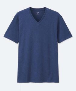 Uniqlo Blue V-Neck T-Shirt