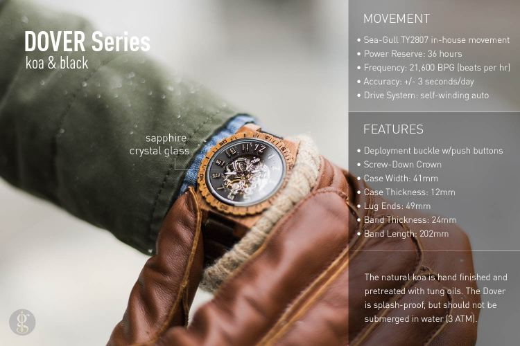 Jord Watch Dover Details | GENTLEMAN WITHIN