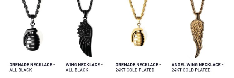 RoseGold And Black Necklaces | GENTLEMAN WITHIN