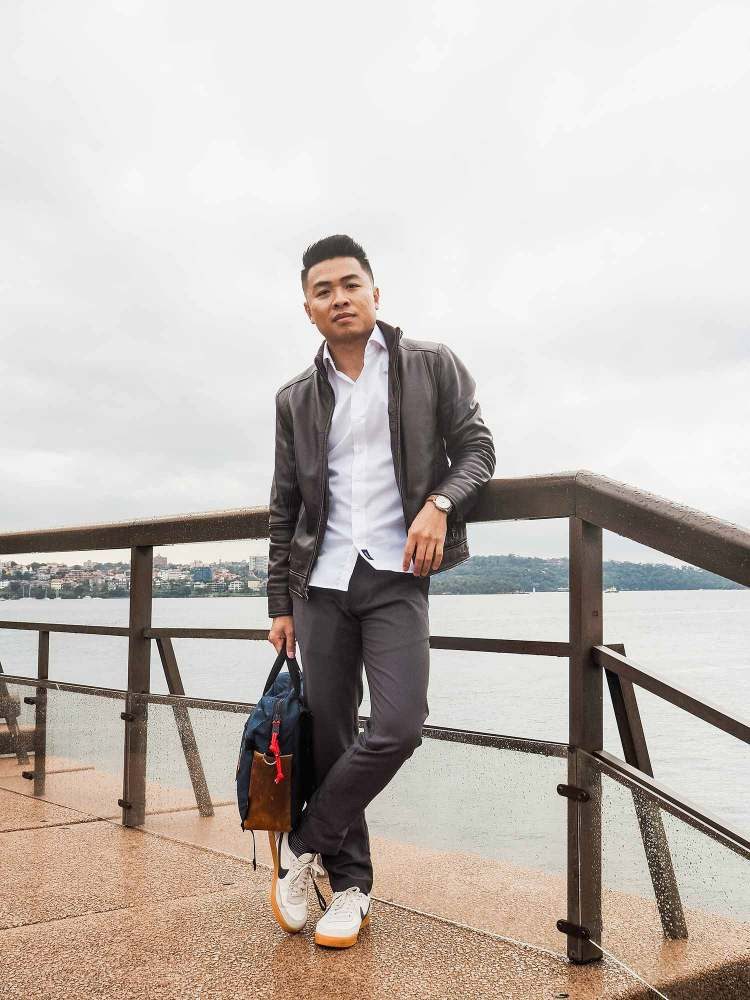 Leather Jacket Outfit at the Sydney Opera House