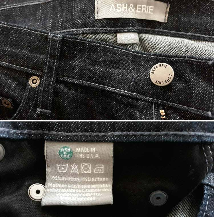 Ash and Erie Jeans Details