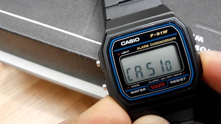 Casio F91W Casio Display   GENTLEMAN WITHIN