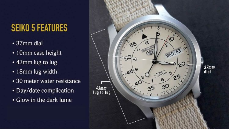 Seiko 5 SNK803 Features | GENTLEMAN WITHIN