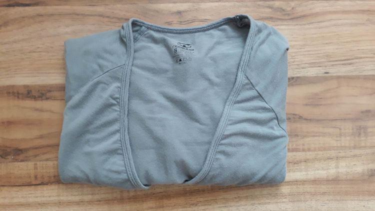Grey Ribbed T V-Neck Undershirt