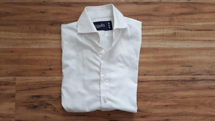Woodies Clothing White Performance Dress Shirt